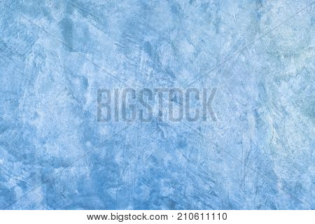 Abstract blue background raw exposed cement with texture.