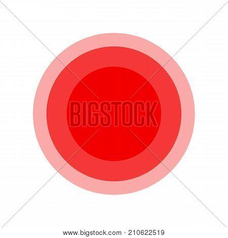 Symbol of pain. Red fading circles illustration