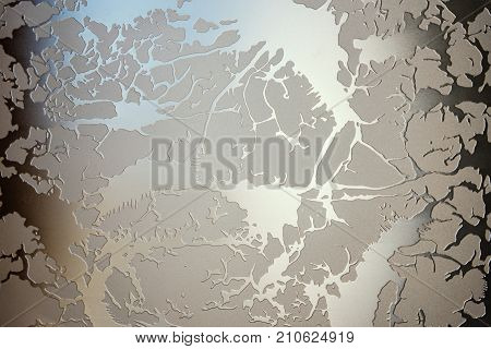 The Matt Glass With A Pattern, Door Decoration, Light From The Window, Background