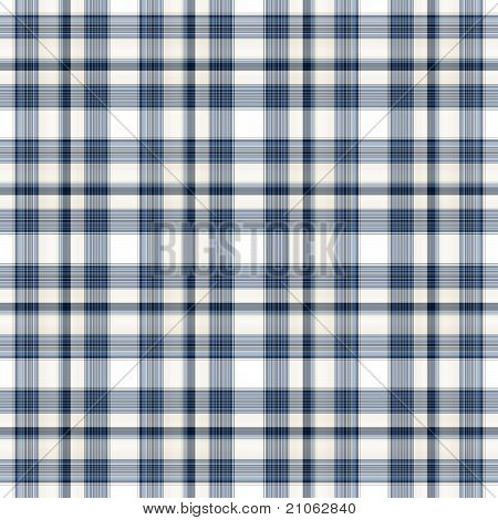 Blue White Seamless Plaid