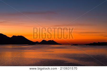 Slopes Of The Eljesac Peninsula At Sunrise