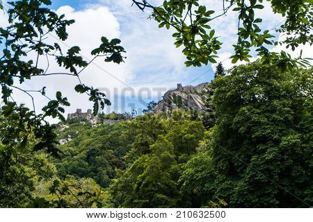 Sintra, Portugal - June, 2017. Castle Of Moors Mourish In Sintra, Portugal