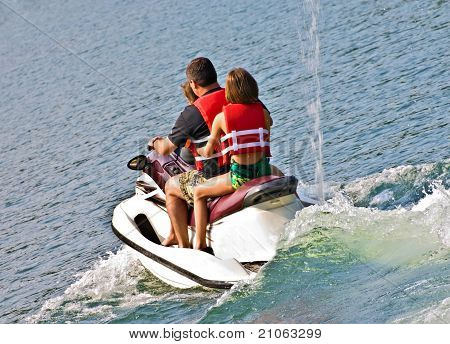 Family On Jet Ski