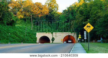 Missionary Ridge highway tunnel in Chattanooga Tennessee