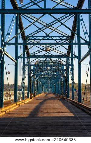 The Walnut Street pedestrian bridge in Chattanooga the country's second longest
