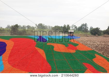 smart agriculture concept farmer use infrared in tractor with high definition soil mapping while plantingconduct deep soil scan during a tillage pass include organic ec om Nitrogenseed rate