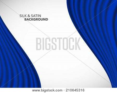 Abstract Vector Wave Silk Satin Fabric For Grand Opening Ceremony