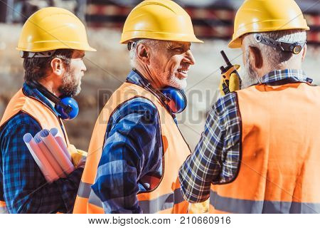 Construction Workers In Uniform