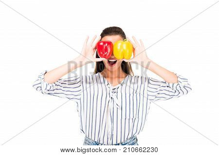 Woman With Tasty Peppers
