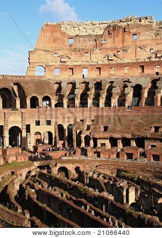 Colosseum With Sunny Sky