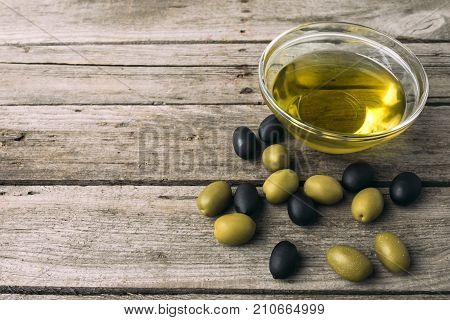 Glass Bowl With Olive Oil