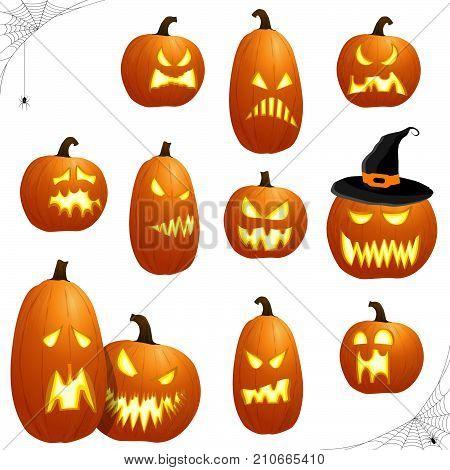 Different Halloween Pumkpins