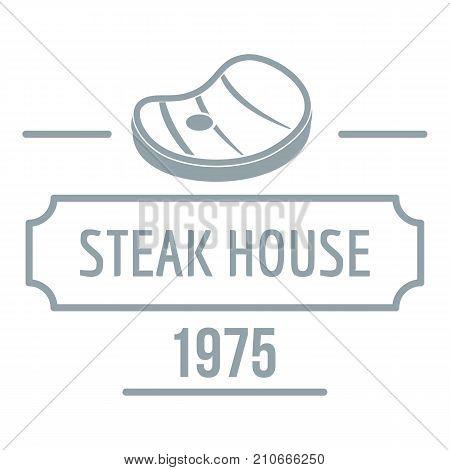 Steak house logo. Simple illustration of steak house vector logo for web
