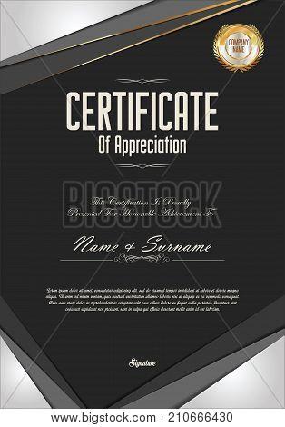 Modern Certificate Or Diploma Template Vector Illustration 2.eps