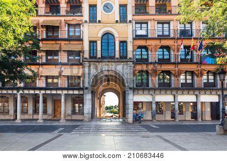Zocodover Square in Toledo Castille la Mancha Spain