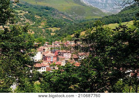 Landscape of the village of Cudillero in Asturias, Spain
