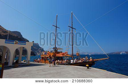 The Old Port In Santorini