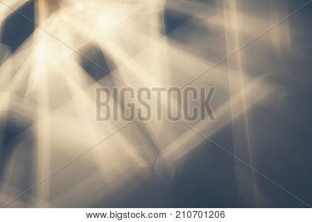 Light Beams And Shadows Pattern Over Ceiling