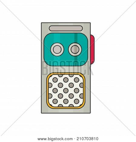 Dictaphone flat vector isolated on white bckground