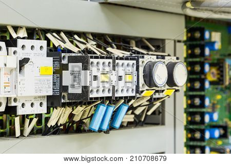 Electrical Control Devices In Control Cubicle
