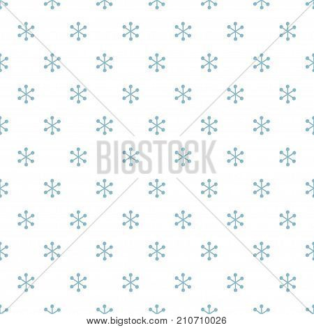 Christmas New Year seamless pattern with snowflakes. Holiday background. Snowflakes. Xmas winter blue decoration. Festive texture. Hand drawn vector illustration. Snow pattern. Wrapping gift paper