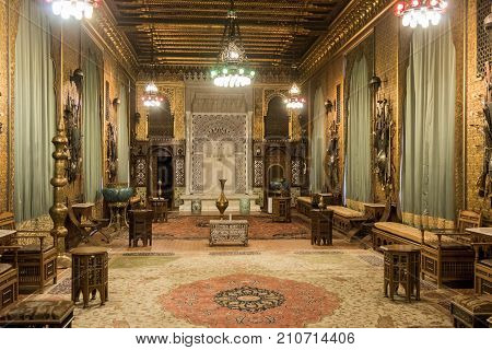Sinaia Romania October 05 2017 : The interior of the Peles castle in Sinaia in Romania