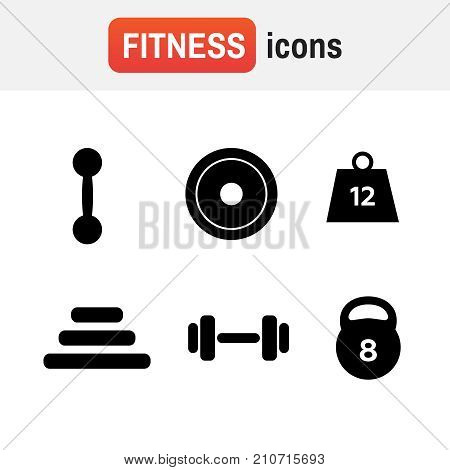 Weight Icon Strength. Weight Vector Icons. Weight Dumbbell