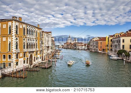 View of the Grand Canal. Venice. Italy