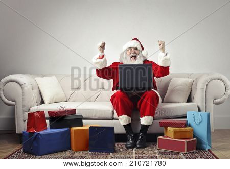 Cheerful Santa Claus