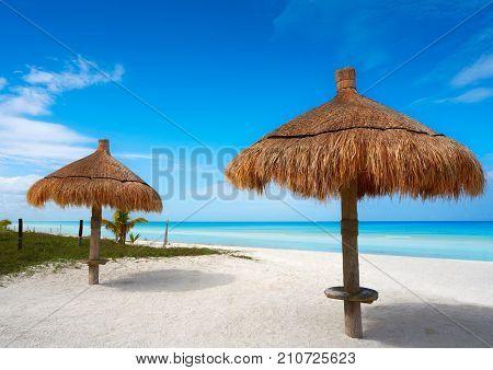 Holbox tropical Island sunroof beach in Quintana Roo of Mexico
