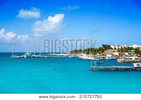 Isla Mujeres island near Cancun Caribbean sea of Riviera Maya of Mexico