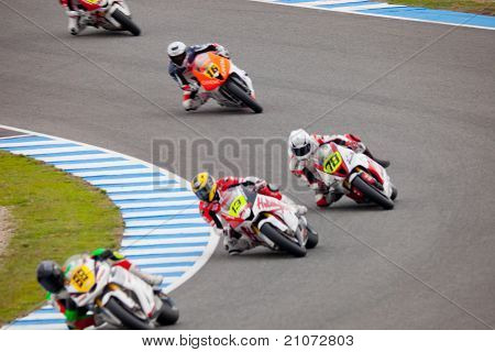 Begin Of The Training Of Moto2 Of The Cev