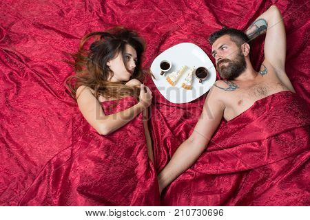 Man With Beard Has Romantic Breakfast With Interested Lady