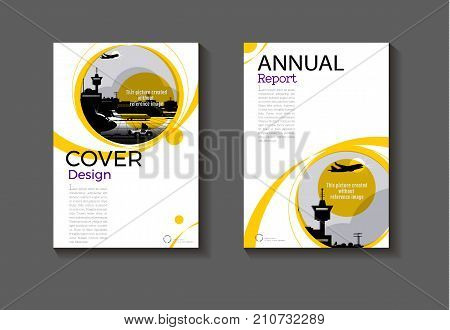 yellow abstract cover Circle design modern book cover Brochure cover templateannual report magazine and flyer layout Vector a4