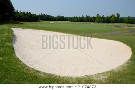 golf course sand trap