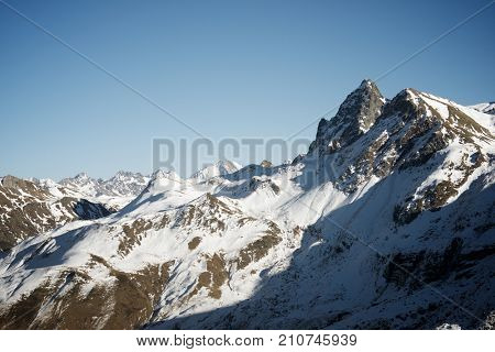 Peaks in Canfranc Valley, Pyrenees, Aragon, Huesca Province, Spain.