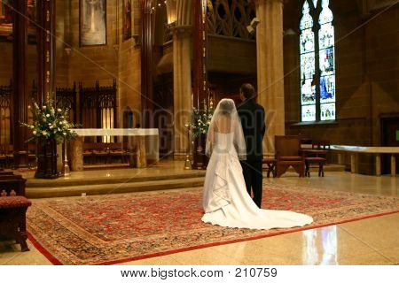 Bride And Groom At Altar (landscape)