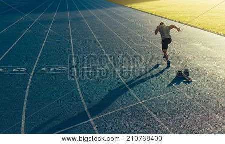 Sprinter Running On Track
