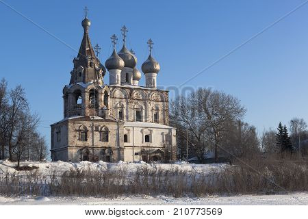 Church of St. John of Chrysostom (Myrrhbearers) in the city of Vologda, Russia