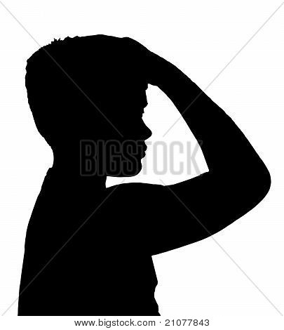Isolated Boy Child Gesture Unshore Thinker