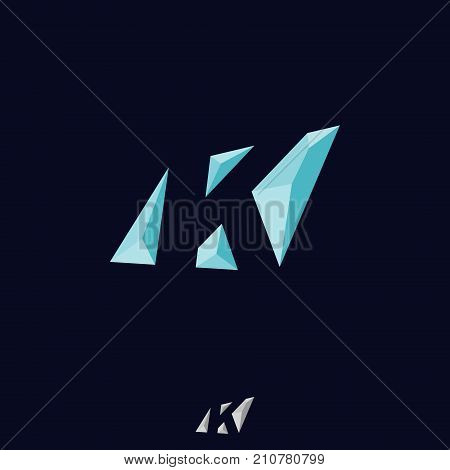 Abstract letter K vector logo concept. Colorful letter K logo vector template. Letter K logo for technology. Vector illustration EPS.8 EPS.10