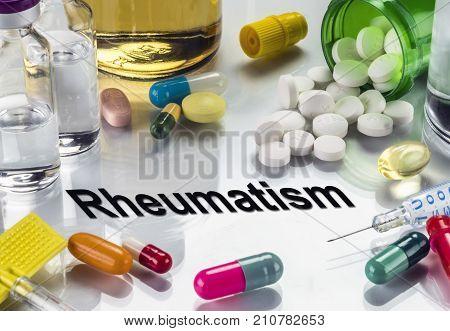 Rheumatism. Medicines As Concept Of Ordinary Treatment, Conceptual Image