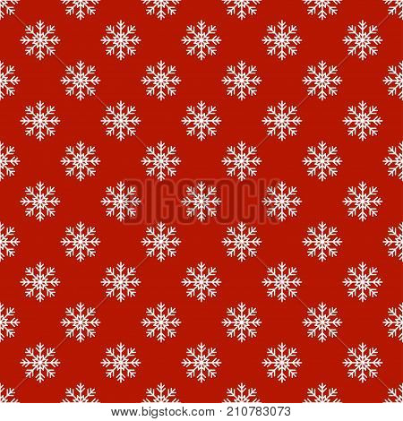Christmas New Year seamless pattern with snowflakes. Holiday background. Snowflakes. Xmas winter trendy decoration. Festive texture. Hand drawn vector illustration. Snow pattern. Wrapping gift paper