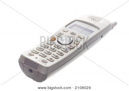 White Cordless Phone Laying Down