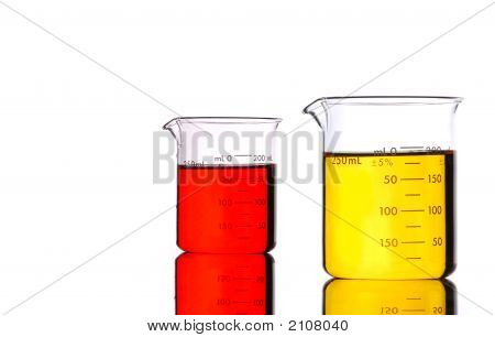 Red And Yellow Beakers