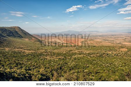 The Great Rift Valley from the Kamandura Mai-Mahiu Narok Road, Kenya, Africa. poster