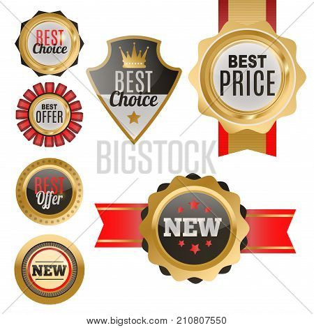 Set of vector badges shop product sale best price stickers and buy commerce advertising tag symbol discount promotion vector illustration. Paper store hot button mark special best banner.