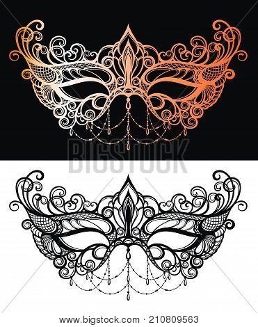 Beautiful lace masquerade mask . Decorative Mask
