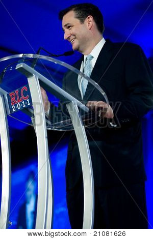 NEW ORLEANS, LA - JUNE 16: Texas Senatorial candidate Ted Cruz addresses the Republican Leadership Conference on June 16, 2011 at the Hilton Riverside New Orleans in New Orleans, LA.