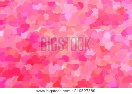 Hot pink glamorous abstract background of spots, resembling the petals, red, crimson and pink shades